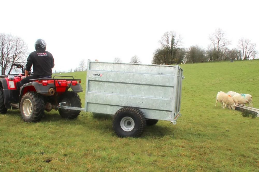 Quad Stock Trailer Fully Galvanised | Quad X Trailers